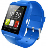 Resigilat! Ceas Smartwatch iUni U8+, BT, LCD 1.44 inch, Notificari, Albastru