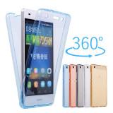 Husa silicon 360° fata + spate Huawei P9 lite 2017 / P9 lite mini 5'', Alt model telefon Huawei, Transparent