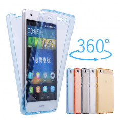 Husa silicon 360° fata + spate Huawei P9 lite 2017 / P9 lite mini 5'' - Husa Telefon, Transparent