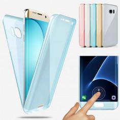 Husa silicon 360° fata + spate Samsung Galaxy S6 / S6 edge / S6 edge plus, Alt model telefon Samsung, Albastru, Auriu, Gri, Roz, Transparent