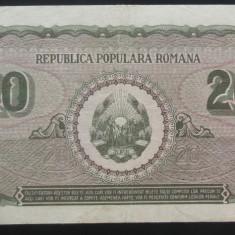 Bancnota 20 Lei - ROMANIA, anul 1950 *cod 512 Ro - Bancnota romaneasca