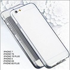 Husa Iphone 6 si 6 PLUS IPHONE 7 7 PLUS silicon 360 grade acopera tot telefonul - Husa Telefon, Transparent