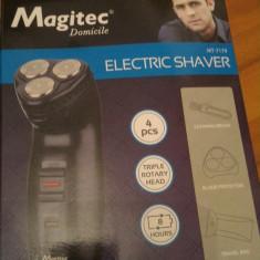 Aparat de ras electric Magitec MT-7179, 3 capete rotative, acumulator, Numar dispozitive taiere: 3