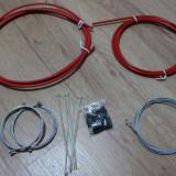 Brand-X Pro set complet cablu Road/MTB - rosu - Piesa bicicleta, Cabluri/camasi