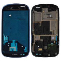 Carcasa Corp Mijloc Cu Rama Samsung I8190 Galaxy S III mini Albastra
