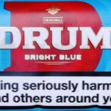 Tutun Drum Bright Blue-tarie light-tutun pentru rulat/injectat---plic 50 gr.