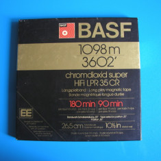 BASF LPR35CR-Banda magnetofon Chromdioxid Super HiFi, rola metal 26, 5 cm, 1098m