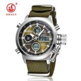 Ceas OHSEN - Military - Quartz - Ceas barbatesc, Fashion, Otel, Material textil, Rezistent la apa