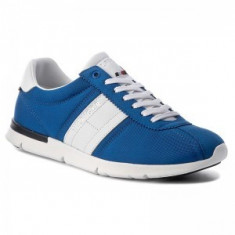 Adidasi Tommy Hilfiger Tobias 9c marimea 41 - Adidasi barbati Tommy Hilfiger, Culoare: Albastru, Textil