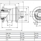 ROLA RULARE S.F 331/42639 JCB JS210