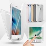 Husa silicon 360° protectie fata + spate Iphone 5,SE,6 ,6 plus,7,7 plus,8,8 plus, iPhone 7/8 Plus, Transparent