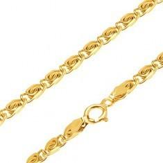 Lanț strălucitor din aur - zale mici cu model