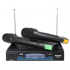 Set microfoane wireless VHF Weisre WM-03V, 50 m - Amplificator studio