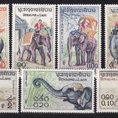 Laos 1958 fauna elefanti MI 74-80 MNH w45 - Timbre straine, Nestampilat