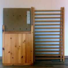 PATUT BEBE IKEA - Patut lemn pentru bebelusi Ikea, 120x60cm, Crem