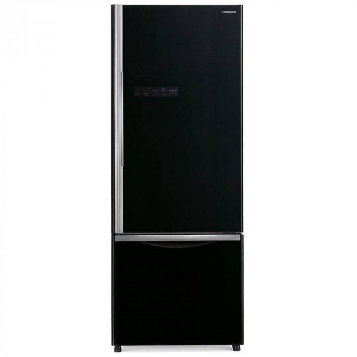 Combina frigorifica Hitachi R-B500PRU6(GBK) 415L Clasa A+ No frost Negru Glass foto mare