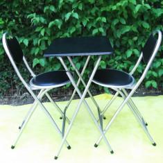 Set Camping /picnic/gratar -1 masa plianta/pliabila +scaun pliant/pliabil- 2buc - Mobilier camping