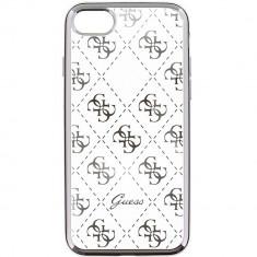 Husa Protectie Spate Guess GUHCP6TR4GSI Transparent Argintiu pentru APPLE iPhone 6, iPhone 6S - Husa Telefon