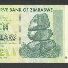 ZIMBABWE 10 DOLARI DOLLARS 2007 [4] P-67, VF - bancnota africa