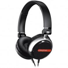 Casca Creative FLEX Ultra-light Microfon Black, Casti Over Ear, Cu fir, Mufa 3, 5mm
