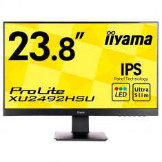 Monitor Iiyama XU2492HSU 24 inch 5ms Negru - Monitor LED IIyama, DisplayPort, 1920 x 1080