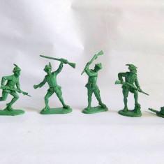 Lot 6 soldati plastic verde armata alpina, Canè (Simonetti), serie completa