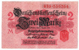 Germania bancnota 2 MARK MARCI 1914 VF nuanta ROZ INCHIS