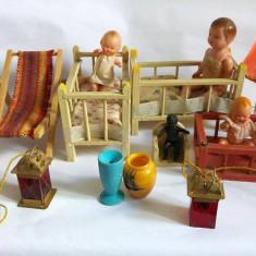 Piese de interior casa papusilor, vechi, vintage, colectie, Germany