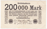 Germania bancnota 200000 mark 1923  200.000 marci