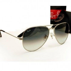 Ochelari de soare Ray Ban aviator STICLA Rayban Gri degrade gradient, Unisex, Pilot, Metal, Protectie UV 100%