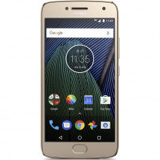 Smartphone Motorola Moto G5 Plus XT1685 32GB 4G Gold - Telefon Motorola