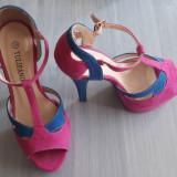 Sandale elegante - Sandale dama, Culoare: Roz, Marime: 35