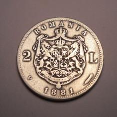 2 lei 1881 - Moneda Romania