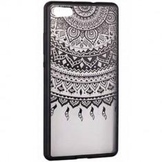 Husa Protectie Spate Star TOPLACE_P8Lite Lace Design 1 Negru pentru HUAWEI P8 Lite - Husa Telefon