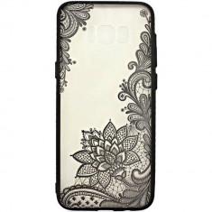 Husa Protectie Spate Star Lace Design 4 Black pentru Samsung Galaxy S8 Plus