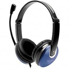 Casti Microlab K290 Black / Blue, Casti Over Ear, Cu fir, Mufa 3, 5mm