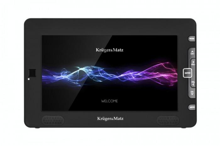 Televizor portabil Kruger&Matz KM0196 HD 23cm Negru foto mare