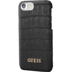 Husa Protectie Spate Guess GUHCP7MCOBK Croco Negru pentru Apple iPhone 7 - Husa Telefon
