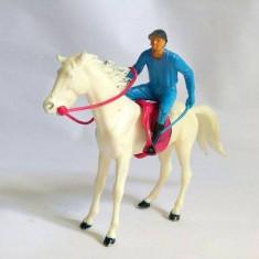 Lot 2 figurine plastic Cal si jokeu/calaret, Italia, 9cm si 6cm
