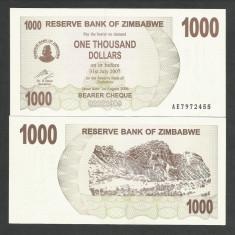 ZIMBABWE 1000 1.000 DOLARI DOLLARS 2006 UNC [1] P-44, necirculata - bancnota africa