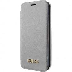 Husa Flip Cover Guess GUFLBKS8LIGLTSI Argintiu pentru SAMSUNG Galaxy S8 Plus - Husa Telefon
