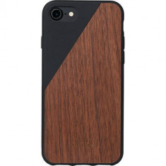 Husa Protectie Spate Native Union CLIC-BLK-WD-7 Walnut Wood Negru pentru Apple iPhone 7 - Husa Telefon