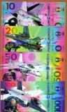 !! SUA =FANTASY NOTES - LOT COMPLET AVIOANE MILITARE (4 BUC.) 2017 - UNC/POLIMER