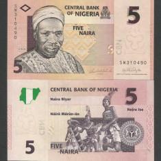 NIGERIA 5 NAIRA 2006, UNC [1] P-32a, necirculata - bancnota africa