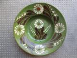 5 Farfurie veche din ceramica pentru agatat pe perete blid vechi 21 cm diam.