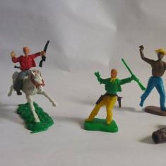 Lot mixt indieni si cowboy, plastic, colectie, decor, diorama