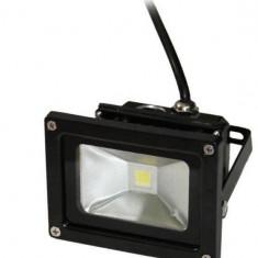Proiector LED exterior ART 10W lumina rece 6500K IP65 black