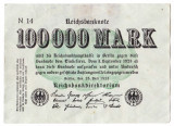 Germania bancnota 100000 mark 1923  100.000 marci