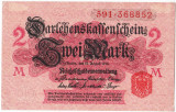 Germania bancnota 2 MARK MARCI 1914 XF nuanta ROZ DESCHIS