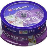 Mediu optic Verbatim BLANK DVD+R DL 8X 8.5GB 25 bucati